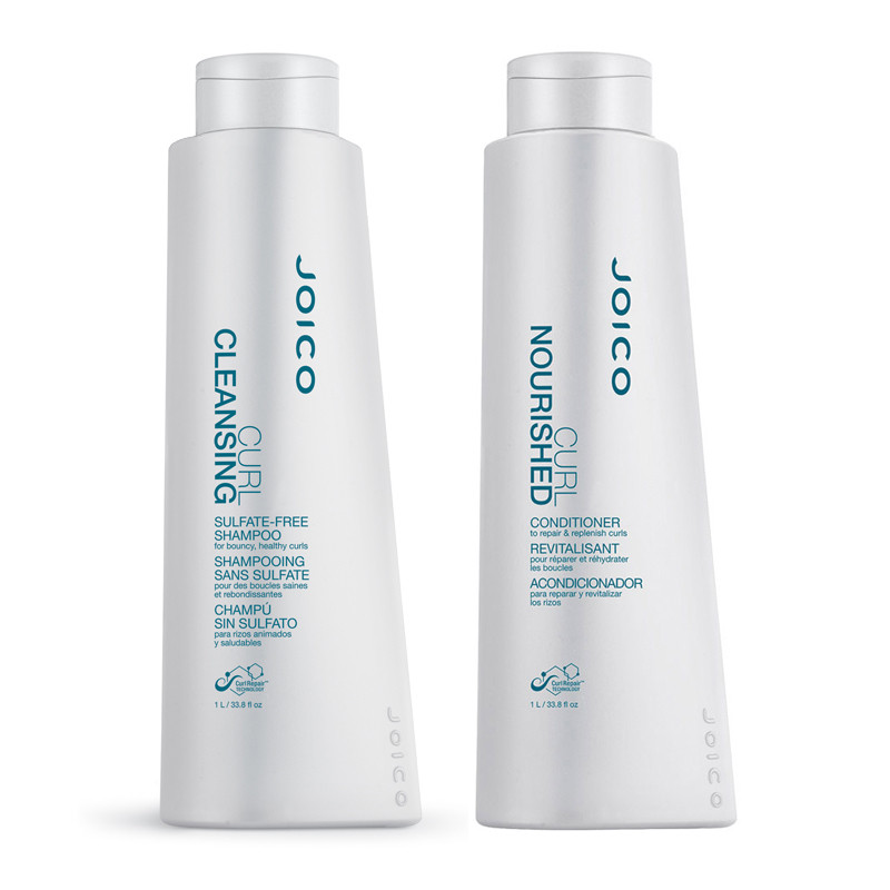 Joico Curl Cleansing Sulfate-Free Shampoo & Curl Nourished Conditioner Duo  33 8oz