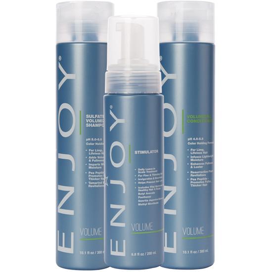 Enjoy Volumizing Shampoo, Conditioner And Stimulator Set