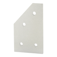 80/20 4 Hole - 45 Degree Angled Flat Plate