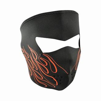 Neoprene All-Season Full Face Mask - Orange Flame