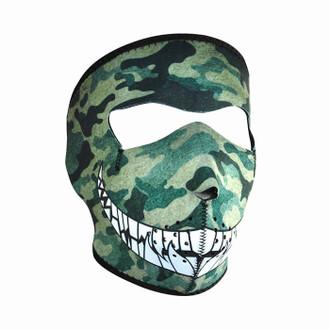 Neoprene All-Season Full Face Mask - Camo with Teeth