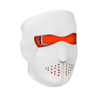 Neoprene All-Season Full Face Mask - White to Hi-Viz Orange