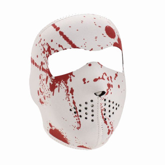 Neoprene All-Season Full Face Mask - Blood Splatter