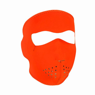 Neoprene All-Season Full Face Mask - Hi-Viz Orange
