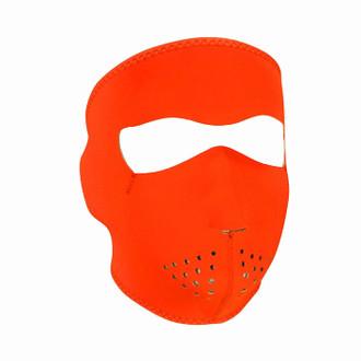 Neoprene All-Season Full Face Mask - Hi-Viz Orange