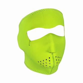 Neoprene All-Season Full Face Mask - Hi-Viz Lime