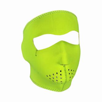Neoprene All-Season Full Face Mask - Hi-Viz Lime