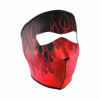 Neoprene All-Season Full Face Mask - Red Flames