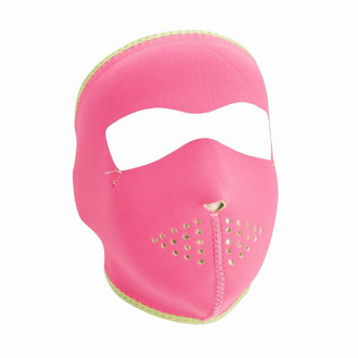 Neoprene All-Season Full Face Mask - Pink to Lime