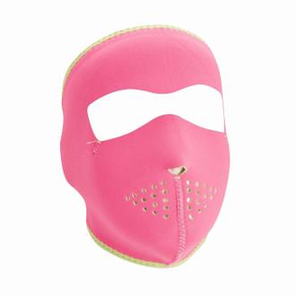 Neoprene All-Season Full Face Mask - Pink to Lime