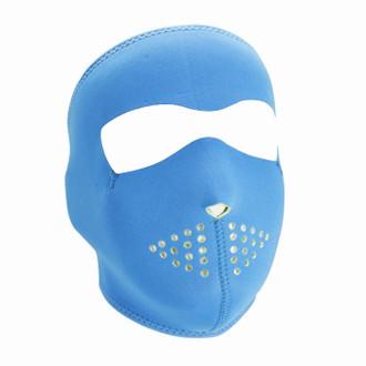 Neoprene All-Season Full Face Mask - Neon Blue to Lime