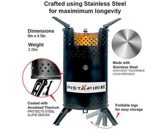 Instafire Inferno Portable Bio-Mass Camp Stove