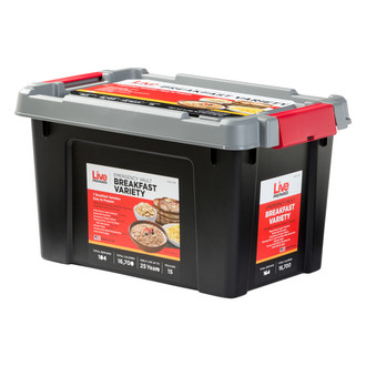 Live Prepared Breakfast  Emergency Food Vault