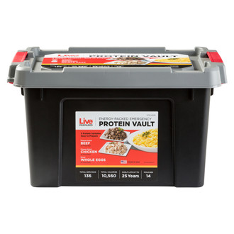 Live Prepared Protein  Emergency Food Vault