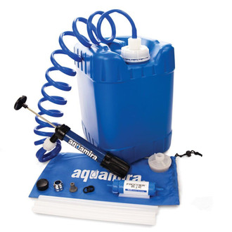 Aquamira 5-Gallon Emergency Water Storage Container with Aquamira Filtration Kit