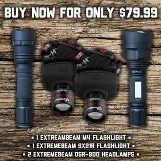 ExtremeBeam Flashlight Closeout Bundle - Factory Refurbished*