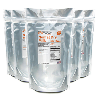 NuManna Hormone-Free USDA Non-Fat Milk Pouch - 6 Pack