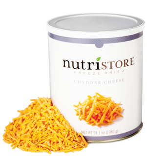 Nutristore™ Cheese, Cheddar - Freeze Dried