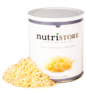 Nutristore™ Cheese, Mozzarella - Freeze Dried