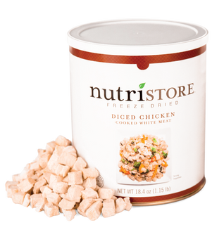 Nutristore™ Chicken, Diced - Freeze Dried