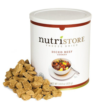 Nutristore™ Diced Beef-Freeze Dried