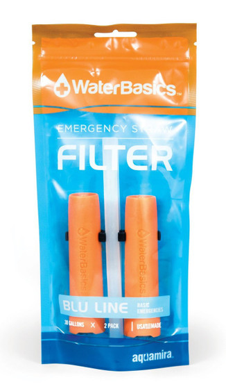 Water Basics Blue Line Emergency Straw Filter