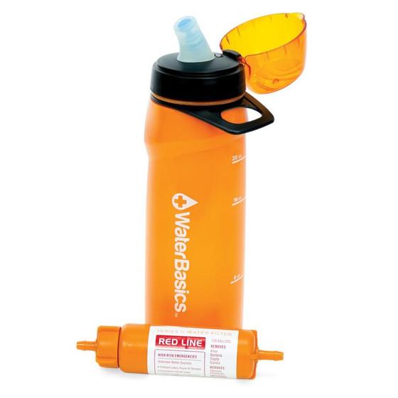 Water Basics Redline Water Bottle