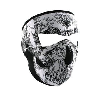 Neoprene All-Season Full Face Mask - Black & White Skull