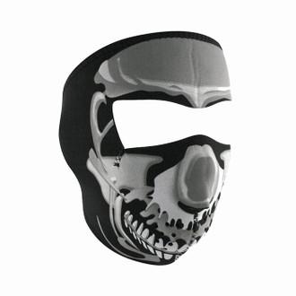 Neoprene All-Season Full Face Mask - Chrome Skull
