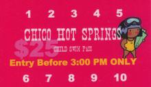 Chico Swim Card - 10 swims Ages 3-7