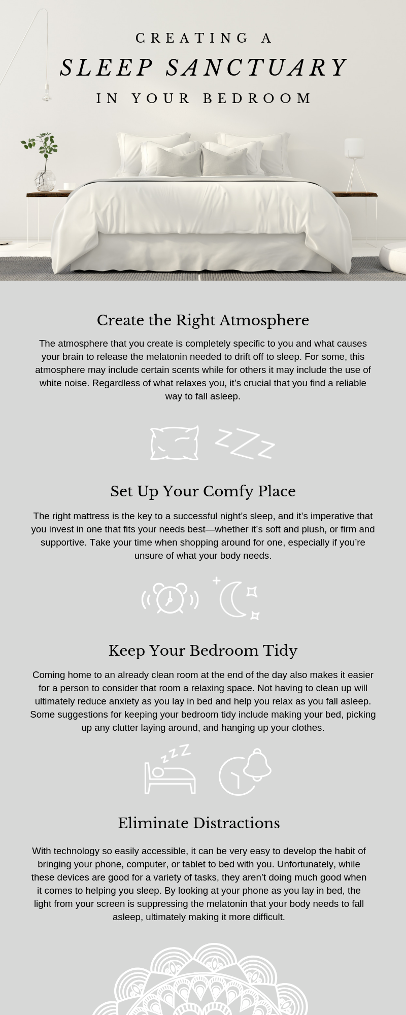 creating a sleep sanctuary infographic
