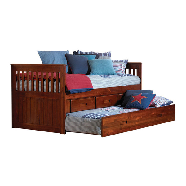 Donco 2835 Merlot Twin Rake Bed birite furniture