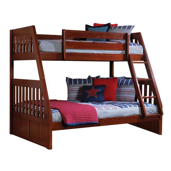 Merlot Twin Full Bunk Bed