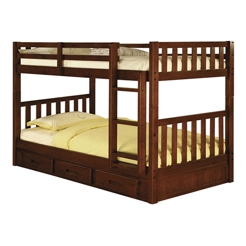 Picture of: Merlot Twin Twin Bunk Bed