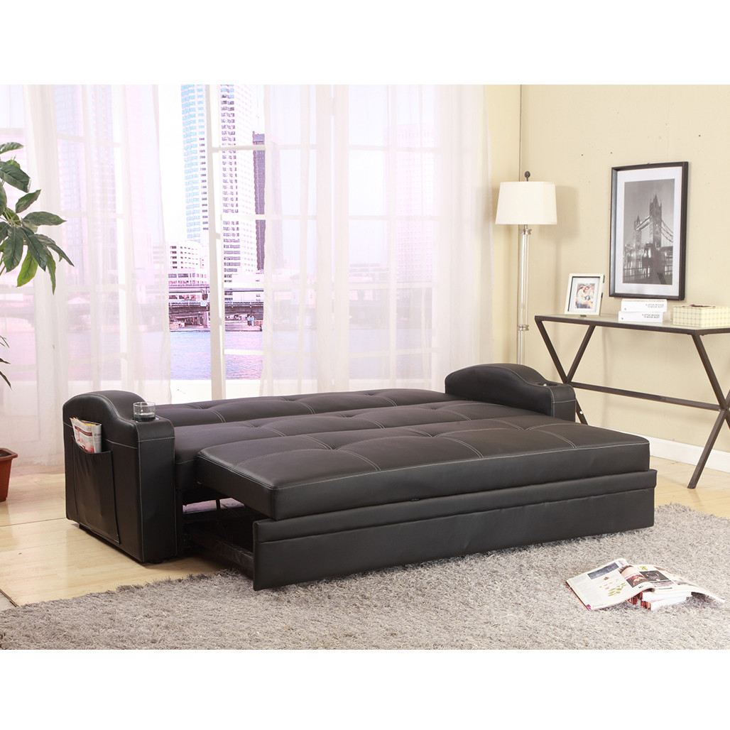 Easton Black Adjustable Sofa