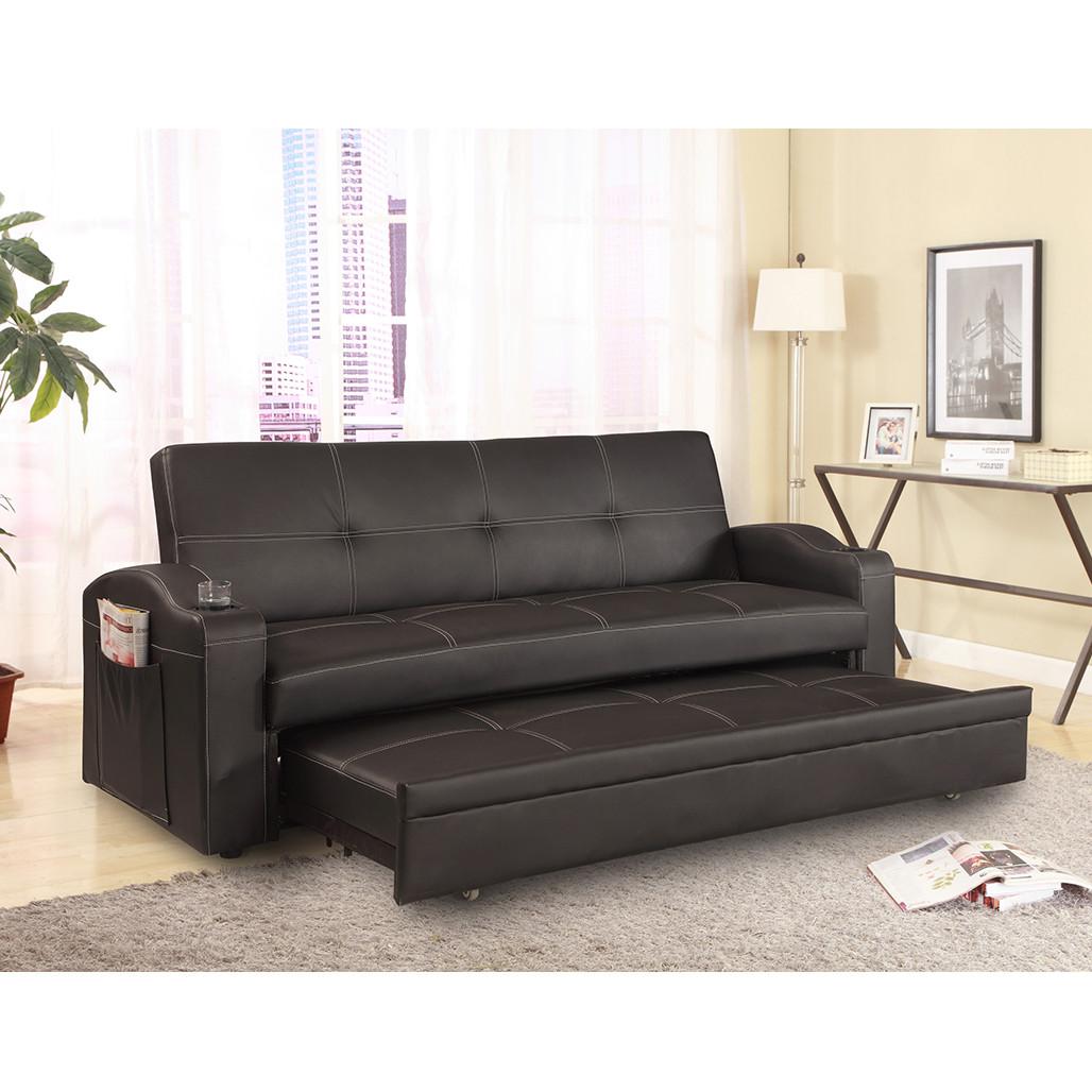 Crown Mark 5310 Easton Black Adjustable Sofa