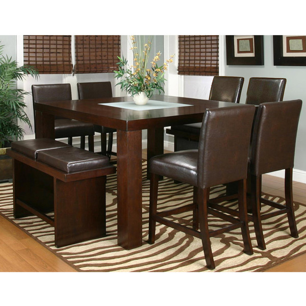 Bengal Brown Counter Height Dining Room Set