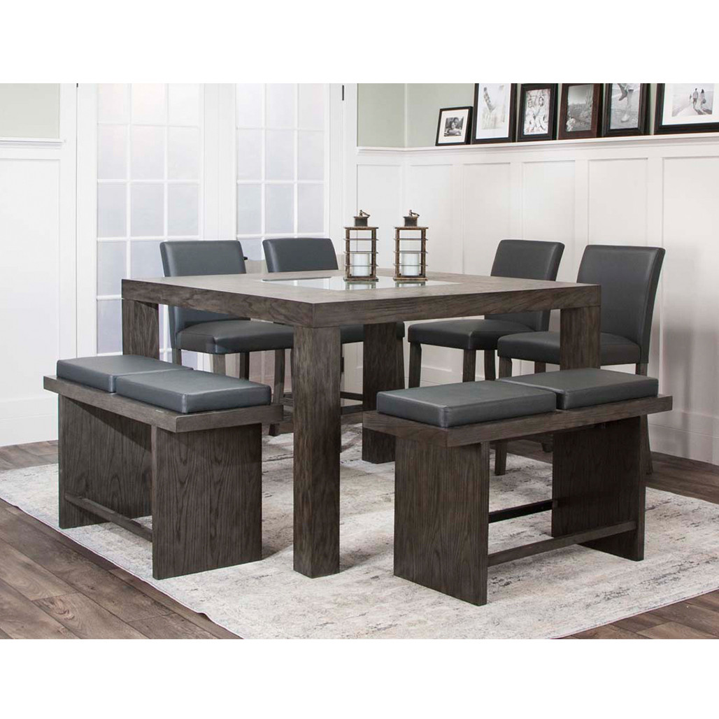 Rooms To Go Dining Sets: Cramco 25078 Cougar Grey Dining Room Set