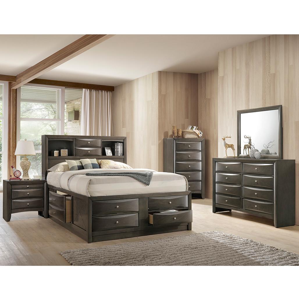 Crown Mark 4275 Emily Grey Bedroom Set