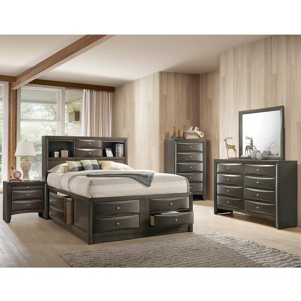 Crown Mark 4275 Emily Grey Bedroom Set
