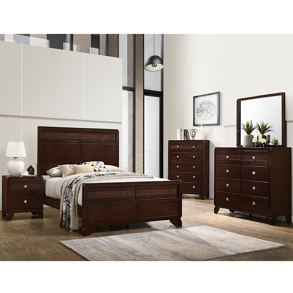 Crown Mark 6850 Brown Bedroom Set