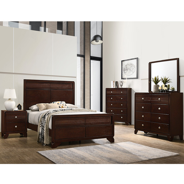 Crown Mark 6850 Brown Bedroom Set