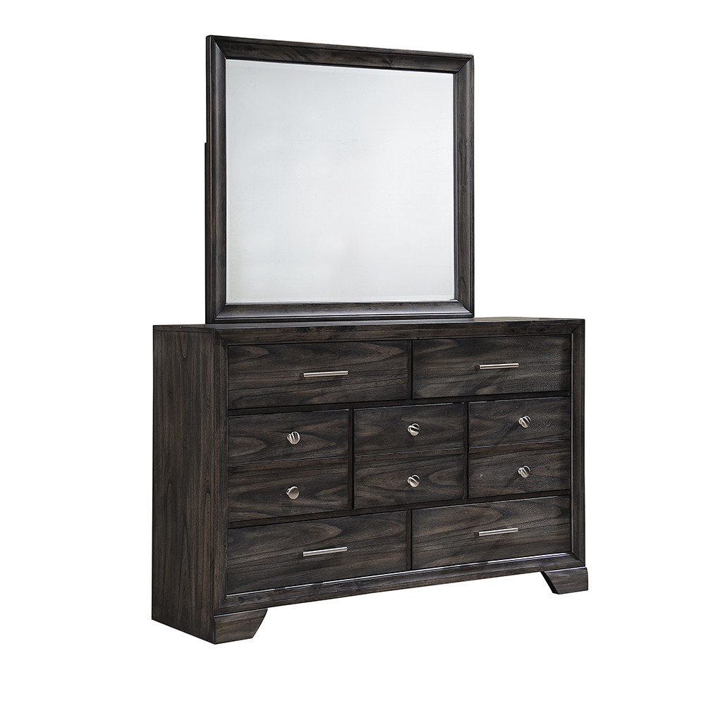 Jaymes Grey Dresser and Mirror