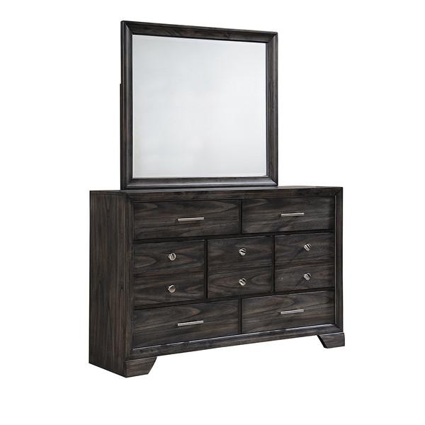 Crown Mark 6580 Grey Dresser and Mirror