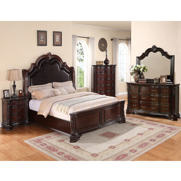 Crown Mark 1100 Sheffield Cherry Bedroom Set