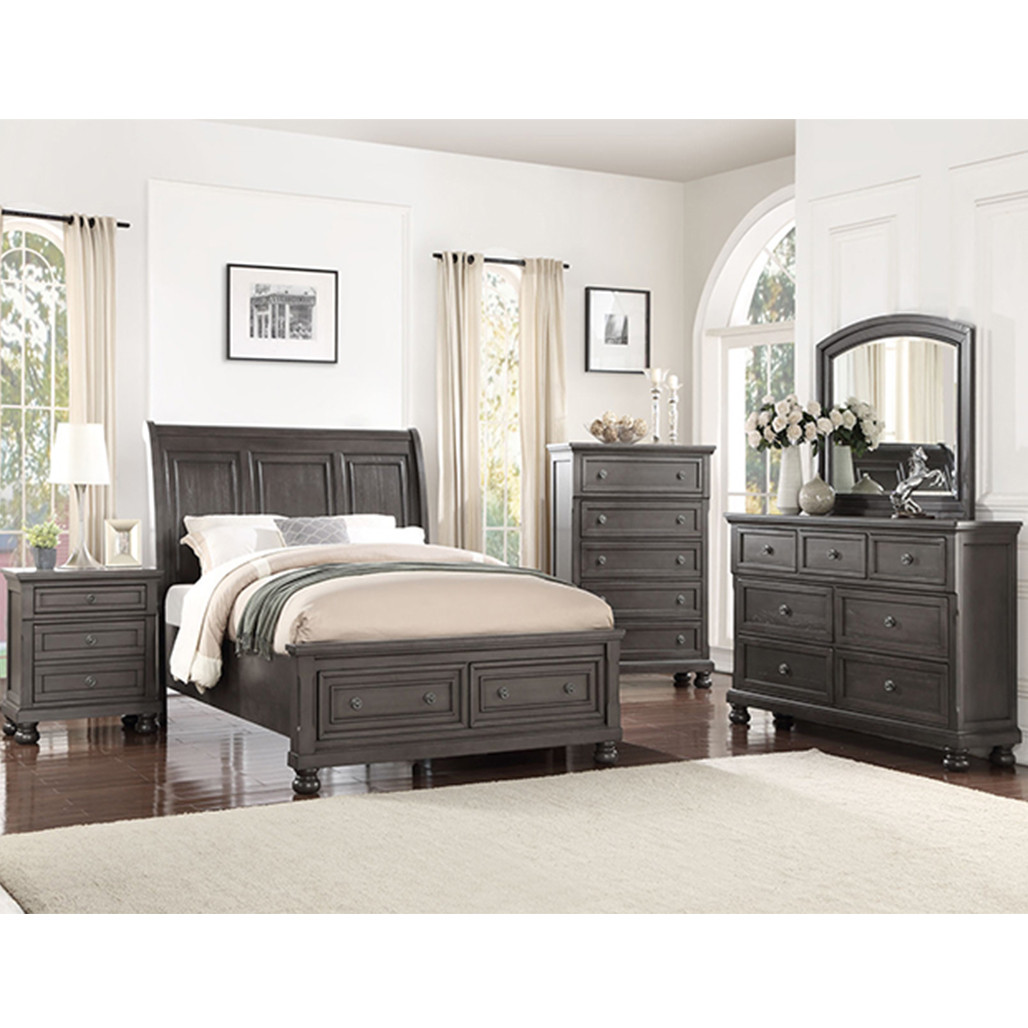 Crown Mark 6580 Grey Bedroom Set