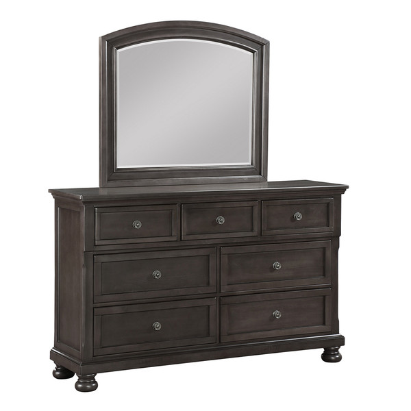 Avalon Grey Dresser and Mirror