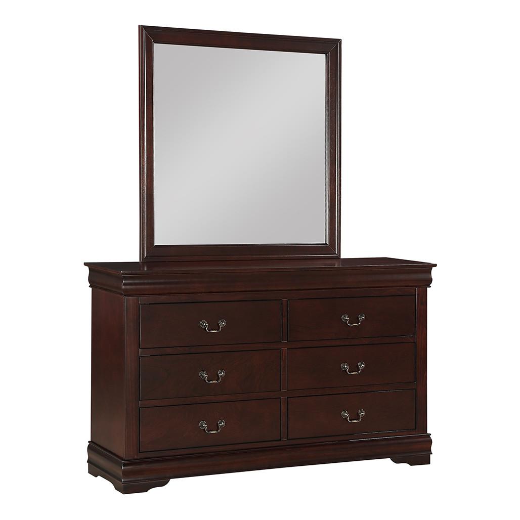 Louis Philip Cherry Dresser and Mirror