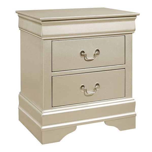 Crown Mark 3450 Louis Philip Champagne Nightstand