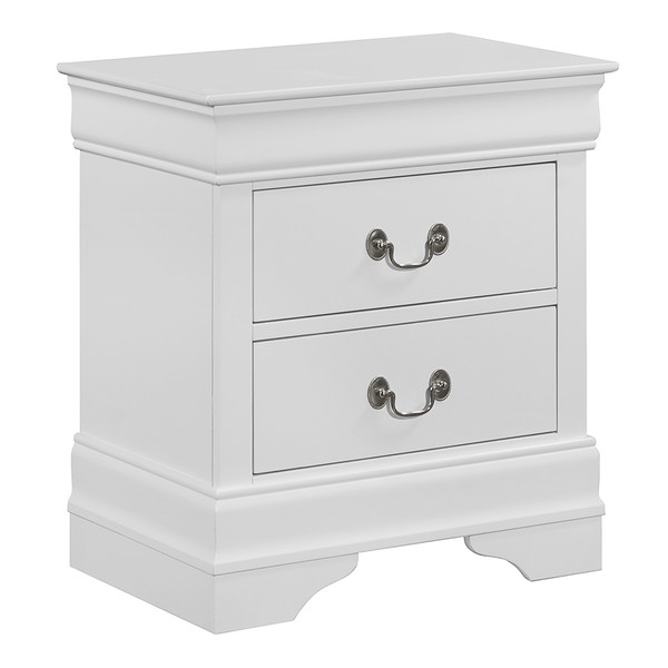 Crown Mark 3650 Louis Philip White Nightstand